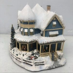 Thomas kinkade Christmas Hawthorne village houses
